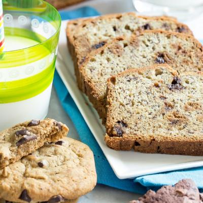Banana Chocolate Chip Cookie Bread