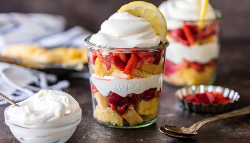Lemon Strawberry Shortcake Cups Dessert Recipes Otis
